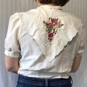 Vintage Laura and Jayne collection floral Blouse